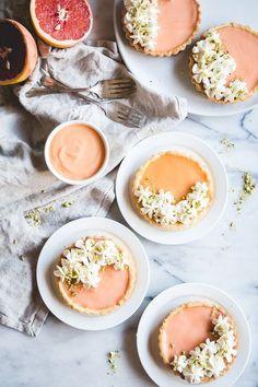 Pink Grapefruit Tartlets