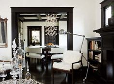 black and white interior design architectural details
