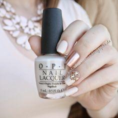 The Polish-a-holics: Sparkling Vampire #nailart #nails #manicure #nudenails #nudeandgold #rhinestones #OPI #essie #pennytalk #myvampireisbuff #studs #bornprettystore