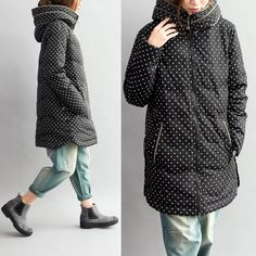 Women loose  winter down coat - Tkdress  - 1