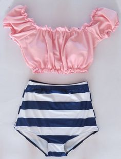 high waisted swin suit with flowers | 2014 New brand high waisted Women's bikinis Swimsuit push up bikini ... omg this is so cute! not a functional swimsuit