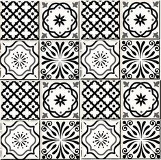 Black and white Tile Set of 24 Tiles Decals Tiles Stickers Tiles for walls Kitchen decals Bathroom decals wall decals Kitchen Decals, Bathroom Decals, Tile Decals, Wall Stickers Murals, Wall Decal Sticker, Peel And Stick Tile, Stick On Tiles, White Tile Backsplash, Wall Tiles