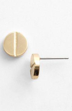 screw rivet stud earrings / tory burch... love these!