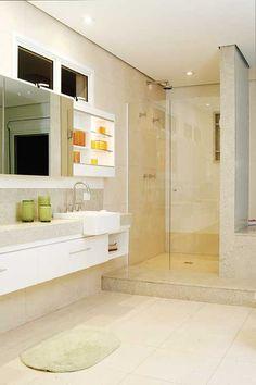 Banheiro Branco em Granito Itaúnas