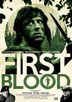"""Andi Ewington's """"First Blood"""" Poster – Craig Zablo Jaws Movie, Film Movie, Best Action Movies, Great Movies, Sylvester Stallone, Andre Luis, John Rambo, Plakat Design, First Blood"""