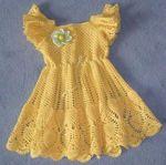 Мобильный LiveInternet Солнечное платье для девочки, вязанное крючком! | Pepel_Rozi - Женский журнал -Пепел розы |