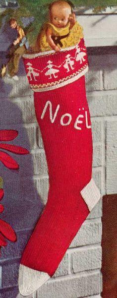 Knitting Pattern Child s Christmas Stocking : Knitted Christmas Stockings on Pinterest Knitted Christmas Stockings, Chris...