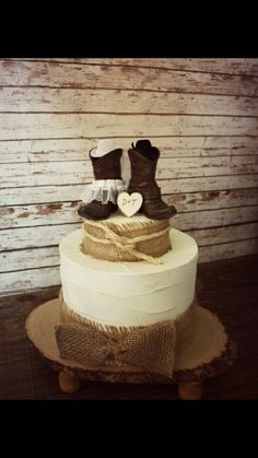 Country Western Wedding Cowboy Boots Cake Topper And Cowgirl Rustic Caketopper