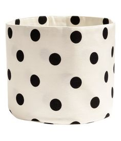 Polka Dots Canvas Storage Basket | H&M