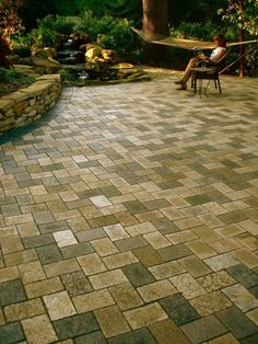 Backyard Inspiration With Raised Screened In Porch And Flagstone Patio |  Product Photos | Earthstone