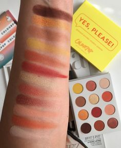 ColourPop Yes, Please! Pressed Eyeshadow Palette w/ Swatches #ColourPop #ColourPopYesPlease