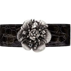 Mimco Punklove Flower Choker ($28) ❤ liked on Polyvore featuring jewelry, necklaces, belts, accessories, black, jet silver, buckle jewelry, punk rock jewelry, choker jewelry en black choker