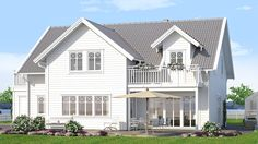 Villa Onsala från A-hus Home Focus, Nordic Home, White Houses, My House, Beach House, Villa, Exterior, Mansions, Architecture