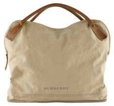 canvas tote...burberry.