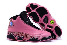 reputable site 06e0b ce3d3 2016 Girls Air Jordan 13 Black Pink Leopard Print Shoes