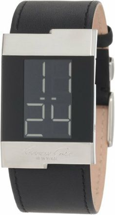 Kenneth Cole New York Men's KC1296-NY Digital Leather Watch Kenneth Cole. $57.49. Case diameter: 28.1 mm. Water-resistant to 99 feet (30 M). Stainless-steel case; black dial. Mineral crystal. Quality Japanese-Quartz movement