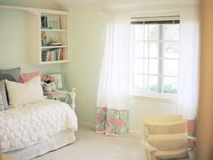 Love those curtains.    MadeByGirl: Michaela's Room Tour