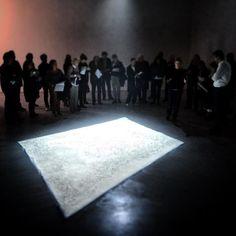 #pressconference #edithdekyndt #1001nights #dustcarpet #wiels opening tomorrow 6-9 pm by cedrik_toselli