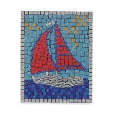Play Outside Sailboat Mosaic