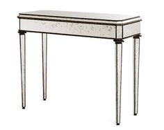 ANTIQUED MIRROR CONSOLE TABLE BY CURREY & CO.