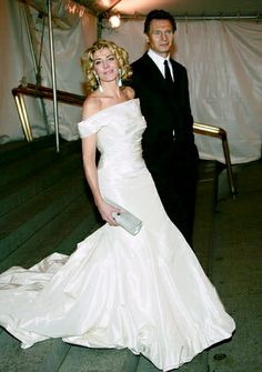 Natasha and Liam Natasha Richardson, Liam Neeson, Celebs, Celebrities, One Shoulder Wedding Dress, Wedding Dresses, People, Fashion, Boyfriends