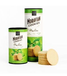 Key Lime Moravian Cookies baked with cold-pressed lime oil, pure cane sugar, and vanilla from Madagascar.