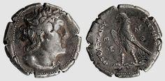 #Greco-Egyptian silver #Ptolemy tetradrachm. (305-30 BC)