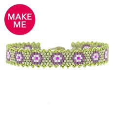 Make Me | Purple Pansies Bracelet | Fusion Beads Inspiration Gallery