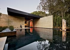 Windhover Contemplative Center -- Looks like the Barcelona Pavillion and Falling Water had a love child!