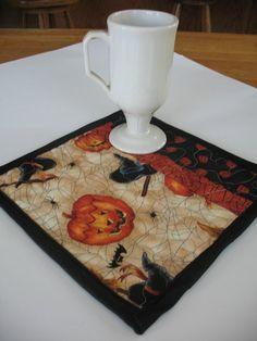 Quilted Halloween Mug Rug Coaster Set by SweetDreamsbyMoosie, $12.00