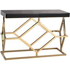 Grove Deco Console Table Black/Gold