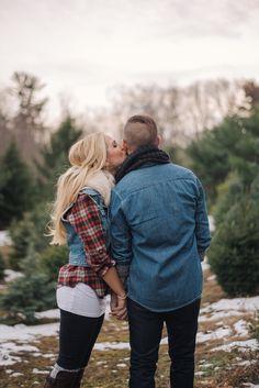 Christmas tree farm photoshoot #treefarm #photoshoot Morgan+Max Photo By Gina Johnson