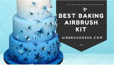 Are you looking for the best airbrush for cake decorating? See my my ultimate Buying Guide for baking airbrush kit, with lots of tips and useful advice. Cake Decorating Airbrush, Cake Decorating Kits, Cake Airbrush Kit, Cake Supplies, Cake Toppings, Cake Tutorial, Cake Art, Color Splash, Icing