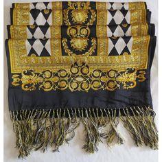 641f19db860a 54 meilleures images du tableau VERSACE scarves   Versace scarf, How ...