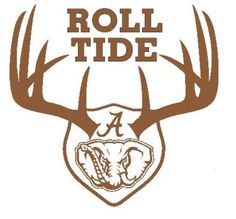 Alabama Crimson Tide Hunting Wall Decal Boys Room or Man Cave or Fan Cave Alabama Crimson Tide Logo, Crimson Tide Football, Alabama Football, Alabama Tide, Lsu, Football Team, Alabama Crafts, Alabama Decor, Ford Trucks For Sale