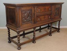 pinterest dark oak antique sideboard buffet - Google Search Antique Sideboard, Sideboard Buffet, Dresser, Carving, Base, Rustic, Legs, Cabinet, Living Room