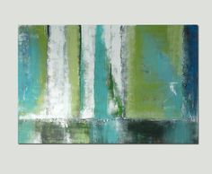 """Large Abstract Schilderij - Digital Green Forrest - Acrylic painting - 29,5"""" x 45,3"""" - Free Shipping. $259.00, via Etsy."""
