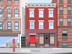 Random Flat  Street of New York or Portland