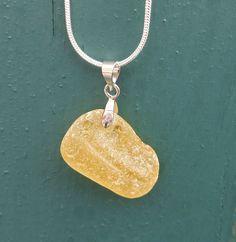 Ultra Rare Yellow Sea Glass Pendant Yellow Sea, Glass Pendants, Sea Glass, Pendant Necklace, Jewelry, Jewlery, Bijoux, Jewerly, Jewelery
