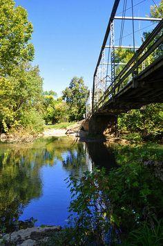 RiverSide Bridge Ozark, MO  This bridge was built in 1909 & will soon be torn down. Kris Dryer.