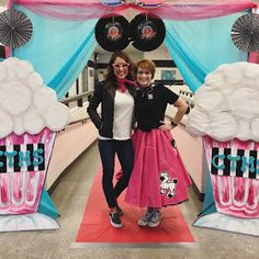 Crafty Texas Girls: Sock Hop - Middle School Cotillion The Effective Pictures We Offer You About Texas ranch A quality picture can tell you many things. You can find the most beautiful pictures t 1950s Party Decorations, Sock Hop Decorations, School Dance Decorations, Grease Themed Parties, 50s Theme Parties, Grease Party, Middle School Dance, School Dances, 50th Party
