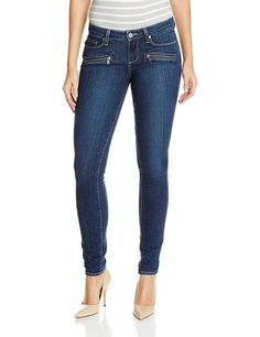 PAIGE Women's Indio Zip Ultra Skinny Jean -- Additional details found at the image link  : Women clothing