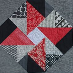 Coral Double Windmill Block 1018x1024 Meet the Vintage Quilt Revival Quilts: Double Dutch Table Runner