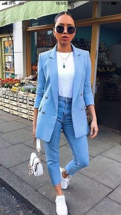 Sweater Outfits For Work, Over 40 Outfits, Outfits Winter, Blazer Outfits Casual, Hijab Casual, Cute Spring Outfits, Summer Work Outfits, Business Casual Outfits, Jean Outfits
