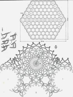 Crochet Patterns: Crochet Lace Tablecloth Pattern - Delicate