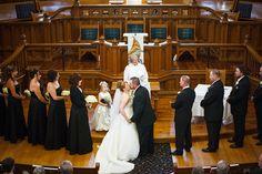 Durham Region Oshawa Whitby Ajax Pickering Northumberland Cobourg Professional Wedding Photographer Ackland Photography Bridal Bride Groom United Church Ceremony First Kiss Husband Wife