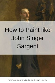 I take a closer look at his work to see what example made John Singer Sargent such a remarkable artist and what you can apply to your own paintings. Oil Painting Tips, Oil Painting Techniques, Acrylic Painting Lessons, Painting Process, Painting Videos, Art Techniques, Painting & Drawing, Oil Paintings, Watercolor Paintings