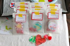 How to make homemade stickers.  Great simple idea and would be fun after Valentines Day too.