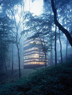 This amazing home, located in the Japanese countryside, was designed by TNA architects and completed in 2006.
