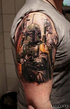 Boba Fett Star Wars Tattoo by Led Coult